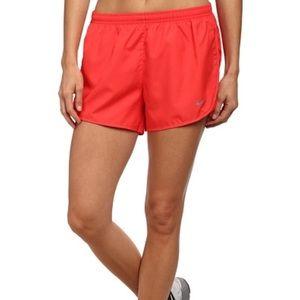 Nike red modern embossed tempo running shorts